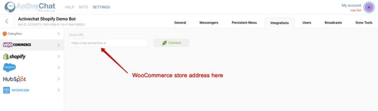 E-commerce – WooCommerce | Visual chatbot builder